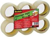 Scotch® Opslagtape, Flat Pack, Transparant, 50 mm x 66 m, 6 Rollen/Pak