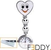 Horloge Verpleegkundige wit + extra batterij + doosje