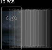 Let op type!! 10 Stuks Nokia 6 Gehard glazen schermprotector 0.26mm 9H ultra 2.5D hardheid