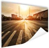 Stedelijke weg bij zonsondergang Poster 60x40 cm - Foto print op Poster (wanddecoratie)