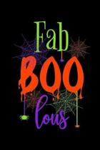 Faboolous: Halloween Spiderweb Notebook to Write in, 6x9, Lined, 120 Pages Journal