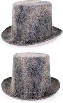 Steampunk hoed grijs
