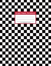 Graph Paper Notebook, 110 Coordinate Pages: 80s Black and White Checked Pattern 5 x 5 Grid Journal for Math, Science Students and Teachers (Large 8.5