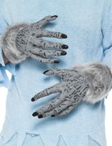 Weerwolf handen | Handschoenen van PVC met 'wolvenvacht'.