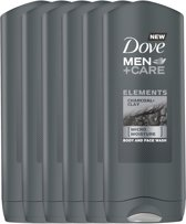 Dove Men Charcoal & Clay Douchegel - 6 x 250 ml -  Voordeelverpakking