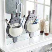 Tandenborstel houders Totoro (van de teken film 'Mijn buur Totoro'- ophangbevestiging zonder schroeven