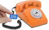 retro telefoon met SIM kaart Opis '60 Mobile oranje