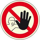 Verbodsbord 'Verboden toegang voor onbevoegden', Ø 200 mm