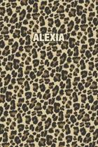 Alexia: Personalized Notebook - Leopard Print (Animal Pattern). Blank College Ruled (Lined) Journal for Notes, Journaling, Dia