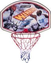 Basketbalbord met ring en net winning - 60 x 45 cm