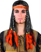 """""""Indianenpruik voor mannen - Verkleedpruik - One size"""""""