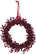 Europalms Kerstkrans - kunstplant -  bessen - 46cm - kerstdecoratie