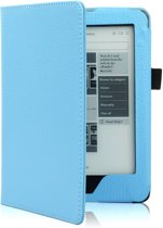 Shop4 - Kobo Glo HD Hoes - Book Cover Lychee Licht Blauw