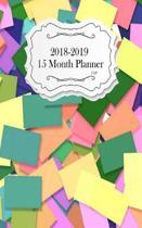 15 Month Planner 2018-2019 5 x8