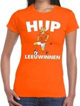 Nederland supporter t-shirt dameselftal Hup Leeuwinnen oranje dames - landen kleding L