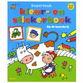 Superleuk kleur- en stickerboek