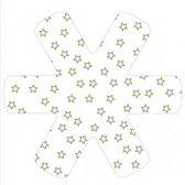 Papillon Panbeschermer Star - Kerst - 38 cm - Set van 3 Stuks - Wit