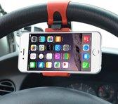 Universele mobiele telefoon auto houder voor aan het stuur Werkt met alle Smartphones / Samsung / iPhone / HTC / Huawei / Sony / OnePlus