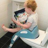 Kiddyloo toilettrainer in hoogte verstelbaar - myosotis blauw