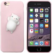 Colorfone PREMIUM Squishy Heart Case / 3D Soft Siliconen Cat / Squeeze / TPU / Softcase / Hoesje / Cover / Case voor de Apple iPhone 6/6S in Lichtroze
