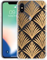 Apple iPhone X Hoesje Art Deco Gold