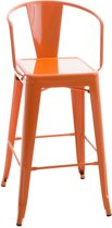 24Designs Barkruk Jackson - Zithoogte 77 Cm - Metaal - Oranje
