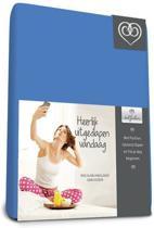 Bed-Fashion katoenen hoeslaken Medium Bleu - 90 x 220 cm - Medium Bleu