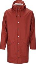 Rains Long Jacket 1202 Jas - Rood