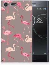 Sony Xperia XZ Premium Uniek TPU Hoesje Flamingo