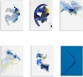 SOMAJ Luxe wenskaarten set - 5 stuks - met envelop