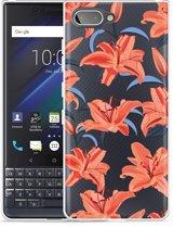 Blackberry KEY2 LE Hoesje Flowers