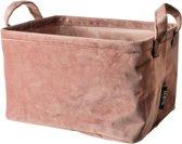 Gusta - Opbergzak rechthoek velvet Roze