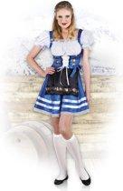 Boland Dirndl Dames Melissa Blauw - M - Carnavalskleding