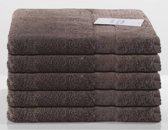 Nightlife Fresh Sneldrogende handdoeken 5-pak 70x140cm - Katoen - Bruin