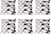 Baytex Sierkussen Triangle - BYT6189 - Zwart Wit - 6 Stuks