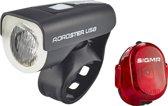 Sigma Roadster/Nugget II Led Fiets Verlichtingsset - 25 Lux - USB oplaadbaar - Zwart