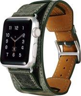 ICarer Leren bandje - Apple Watch Series 1/2/3 (42mm) - Groen