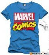 Merchandising MARVEL - T-Shirt Marvel Comics Logo - Cobalt (S)