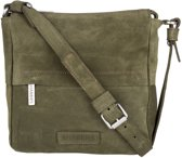 Shabbies Crossbodytas Crossbody Small Suede Groen