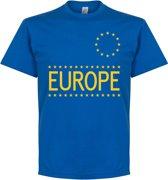 Team Europe T-shirt - Blauw - XXL