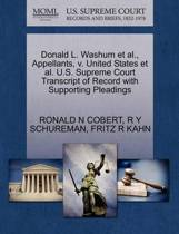 Donald L. Washum et al., Appellants, V. United States et al. U.S. Supreme Court Transcript of Record with Supporting Pleadings