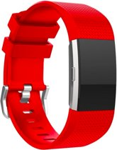 YONO Siliconen bandje - Fitbit Charge 2 - Rood - Large