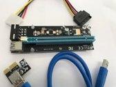 PCI-E 1x to 16x Powered USB 3.0 Extender Riser Adapter