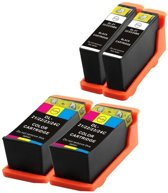Compatible voor Dell Series 21 (22,23 en 24) InktBV® Inktcartridge-set 4pak