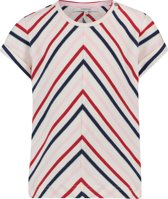 Noppies Meisjes Sweat T-shirt met strepen Rosaryville - Bright Red - Maat 86
