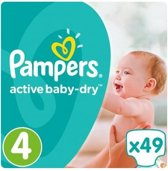 Pampers Active Baby Dry maat 4 - 49st
