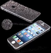 Xssive Glitter Sticker voor Apple iPhone 5 Apple iPhone 5s iPhone SE Grijs - Zwart Duo Pack/2 stuks