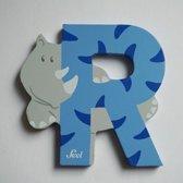 Sevi - Houten Dieren Letter R - blauw