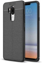 Teleplus LG G7 Leather Textured Silicone Case Black