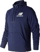 New Balance Essentials Stack Fz Hoodie Vest Heren - Blue